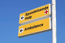 Bordje SEH en Ambulance