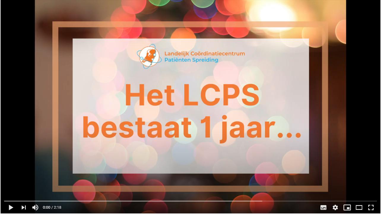 Het LCPS en het RCPS bestaan 1 jaar!